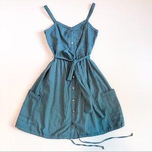 Zac Posen Blue Chambray Dress Size Small